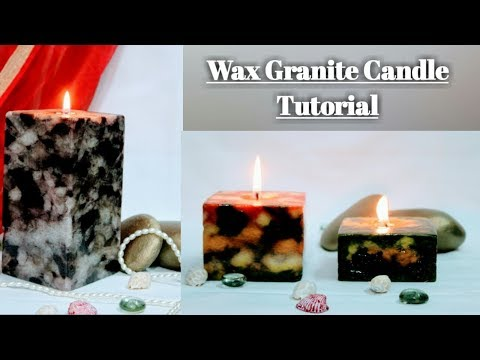 Wax Granite Candle Tutorial