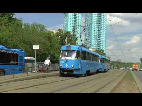 RUSSIA TRAMS IN MOSCOW MAY 2018