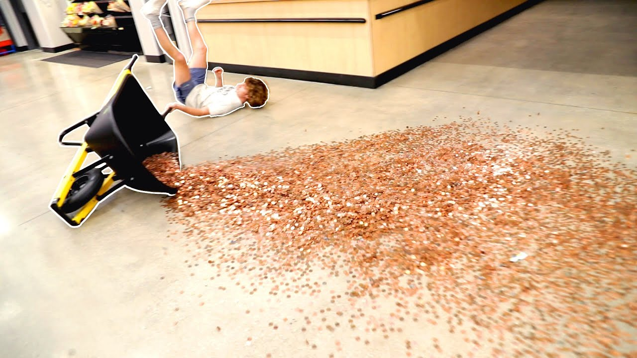 Falling With 40,000 Pennies!