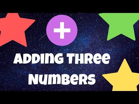 Homework Helper - Adding Three Numbers -Kids Teaching Kids!