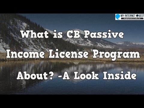 What is CB Passive Income License Program About? -A Look Inside the Members Area
