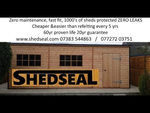 How to fix a shed roof for life. Shedseal Pent.