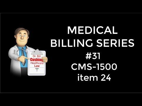 CMS 1500 FORM. Item Number 24.