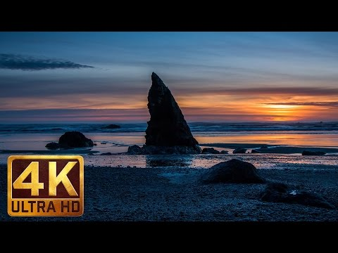Sea Waves Relaxing Video in 4K (UHD) 1 Hour Sea Waves Sounds For Sleeping - Ruby Beach -  Part 2