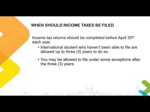 Filing Income Tax in Canada Part 1