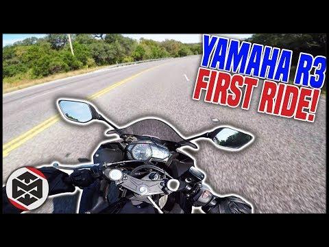 FIRST RIDE on my YAMAHA R3