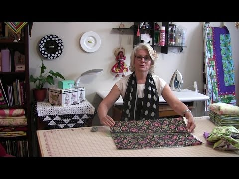 How to fold your quilting fabric