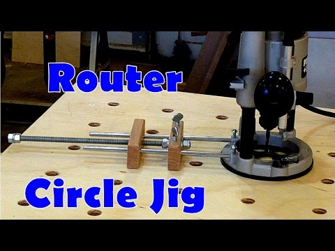 Router Circle Jig with Micro Adjustment