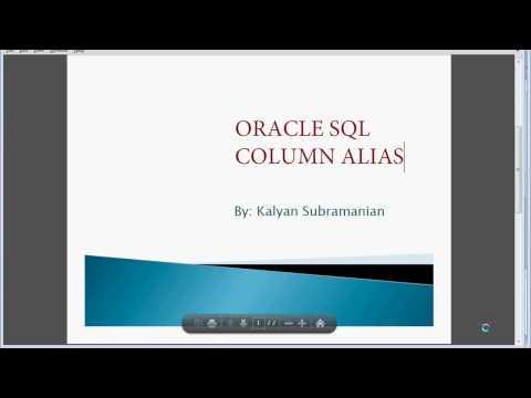 Oracle SQL Column Alias