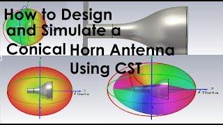 CADFEM Tutorial No 21 – How to investigate a horn antenna using