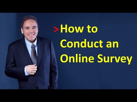 How to conduct an online survey