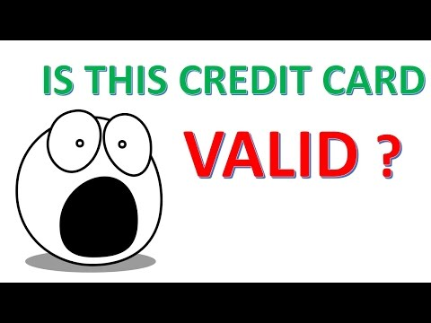 Is this Credit Card Number Valid ?