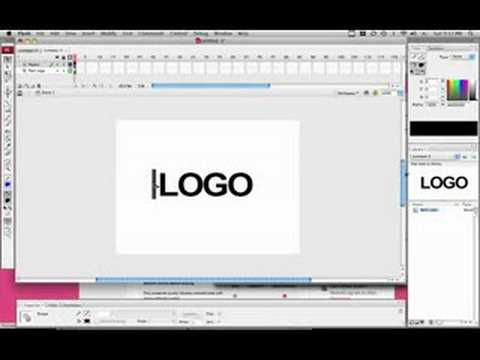 How To Animate Your Logo in Adobe Flash CS3
