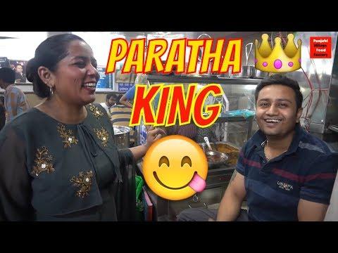 PARATHA KING 👑 PARATHE WALI GALI 😋 YUMMY FOOD 😋 ALOO PARATHA 😋 RABRI FALUDA IN