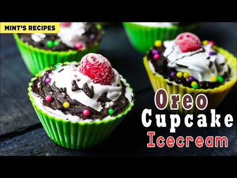 No Bake Oreo Icecream Cupcakes | Easy Icecream Recipe | Mintsrecipes #263