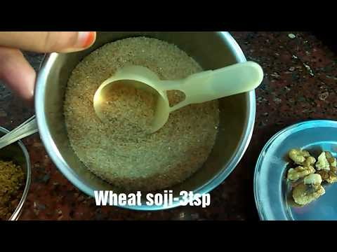 WHEAT PORRIDGE  BABY FOOD RECIPE  6+MONTHS  HEALTHY WITH NUTS