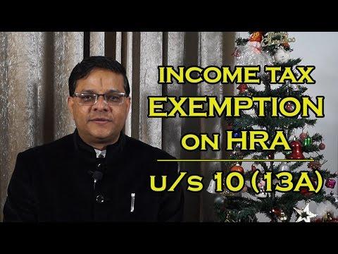 Income Tax Exemption on HRA u/s 10(13A) [English] | मकान किराये भत्ते पर आयकर में छूट