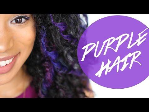 Dyeing My Hair  Purple With Bigen!