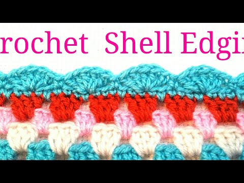 EASY CROCHET SHELL EDGING/TheCrochetworld