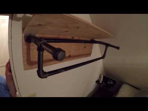 DIY Industrial Pipe Closet Rack