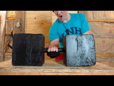 Worlds HEAVIEST Homemade DIY Dumbbell You Can Make at Home