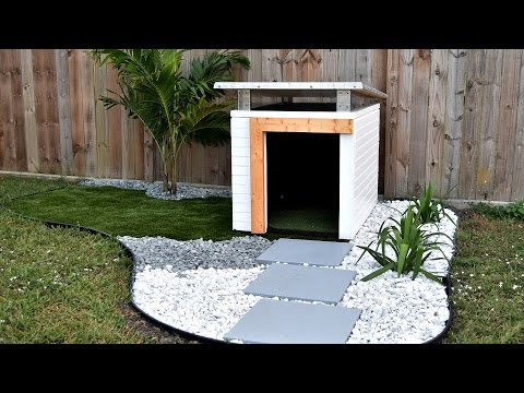 How to Make A Dog House Part 2 | Dog House landscaping