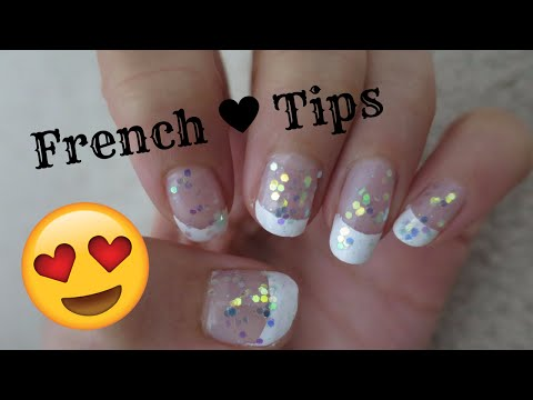 How to Do French Tip Nails With Tape! DIY (Easy)