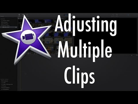 iMovie (Version 10.0) - Apply the same adjustments to multiple clips.