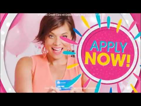 HSN B40th Birthday Credit Card promo June 2017
