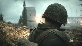 US Infantry in Heavy Combat ! In fps game about WW2 Call of Duty WW2