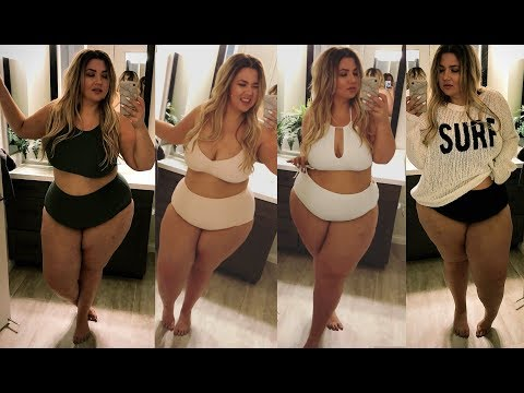 PLUS SIZE FASHION BIKINI SWIMSUIT TRY ON HAUL | I'm shocked this fit! AERIE | Sometimes Glam