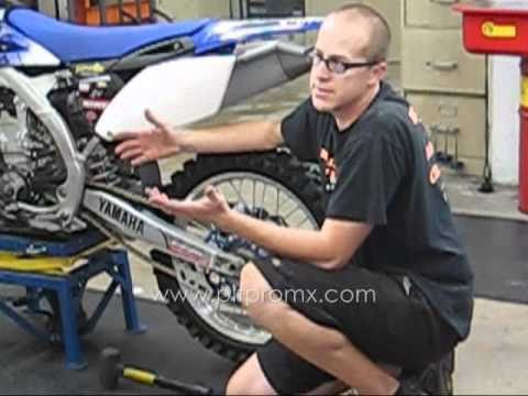 How to change a dirt bike tire - Part 2 of 2 - Pit Pro MX 121108