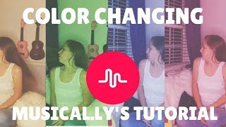 How to do Color Changing Musical.ly