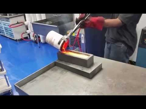 Gold Dore Bar Pouring