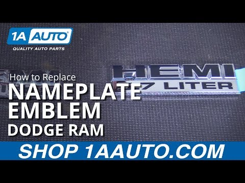 How to Remove and Install Nameplate Emblem 2002-08 Dodge Ram BUY QUALITY AUTO PARTS AT 1AAUTO.COM