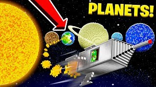 TRAVELING TO ALL THE PLANETS IN MINECRAFT!