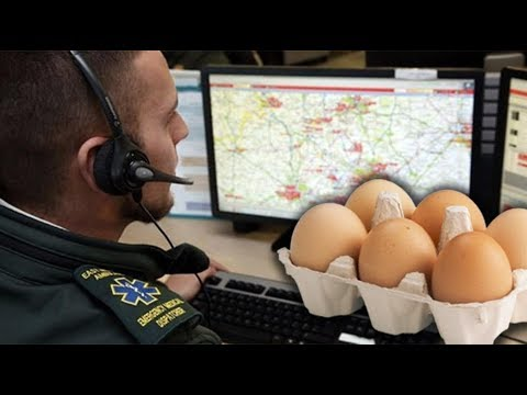 UK woman calls emergency services over cracked eggs