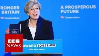 Theresa May Conservative manifesto speech - BBC News