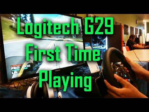Logitech G29 at Intel Lanfest