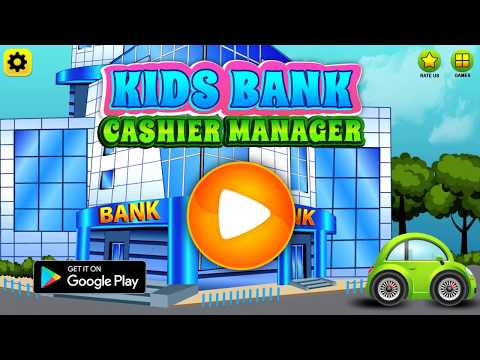 Kids Bank Cashier Manager Money Learning Game