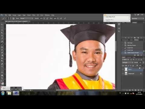 Menghapus Jerawat - edit photoshop