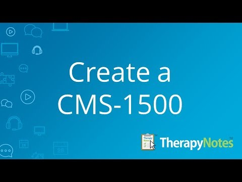 Creating a CMS-1500 in TherapyNotes™