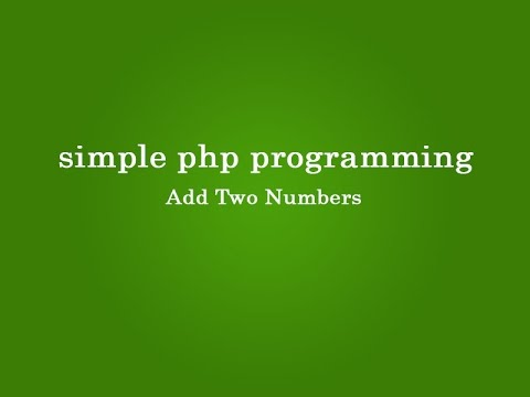 simple php script for programming beginners.