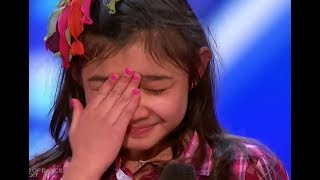 Little Girl Starts To CRY after... | America