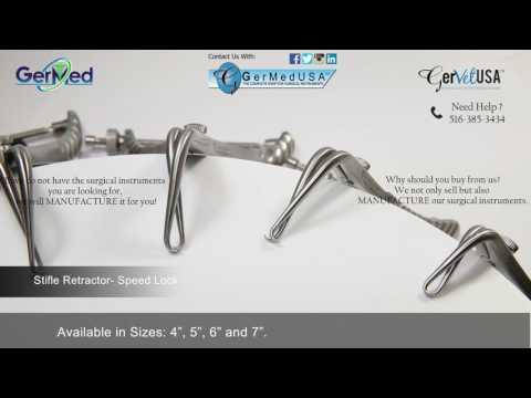 Stifle Retractor- Speed Lock - Veterinary Surgical Equipment