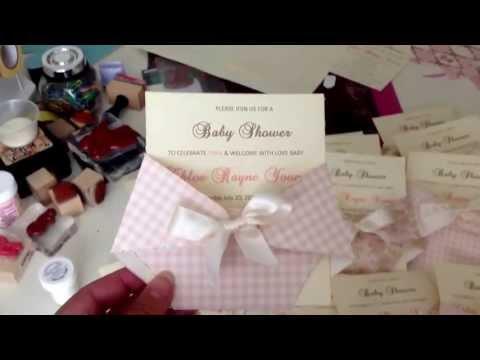 Shabby chic baby shower invite