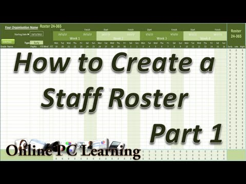 Roster - How to Create a Roster Template  Part 1 - Roster tutorial