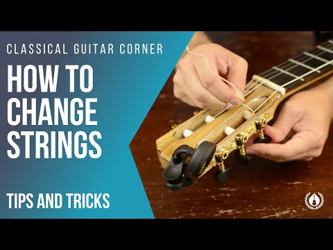 How to Change Strings Tutorial (Classical Guitar)