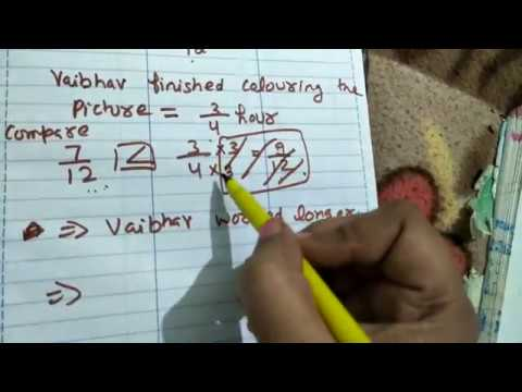 exercise 2.1 CBSE NCERT book mathematics class 7th chapter fractions in excellent channel by ritashu