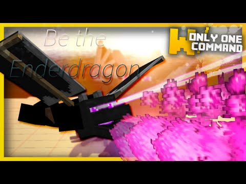 Minecraft - BE THE ENDER DRAGON with only one command block! | Ender dragon disguise